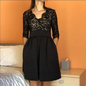 ELIZA J. Black Lace Dress, Size 2 Petite